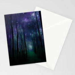 Fantasy Pathway Indigo Violet Teal Stationery Cards