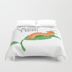 I am eating, therefore i exist Duvet Cover