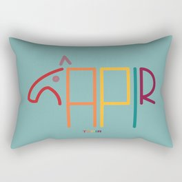 t- tapir Rectangular Pillow