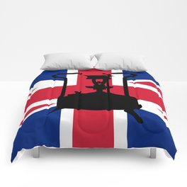 Union Jack and Paraffin pressure stove Comforters