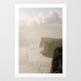 Karang Boma Cliff Bali Art Print