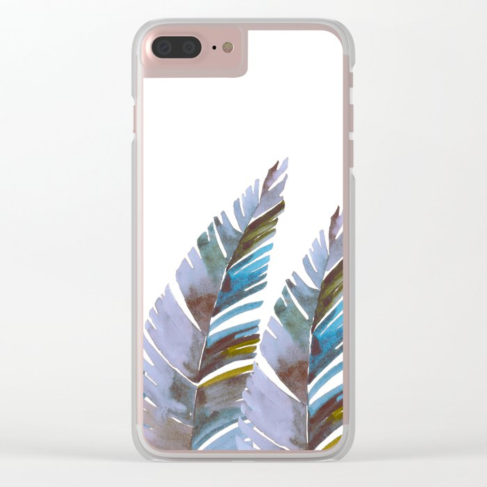 Areca Palm vintage Clear iPhone Case