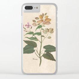 Honesty - botanical Clear iPhone Case