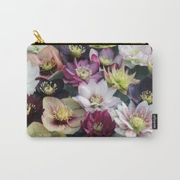 Christmas Spring Flower Floral Flora Eclectic Mix Color Carry-All Pouch