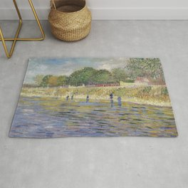 Bank of the Seine by Vincent van Gogh Rug