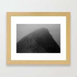 NATURE > HUMANS Framed Art Print