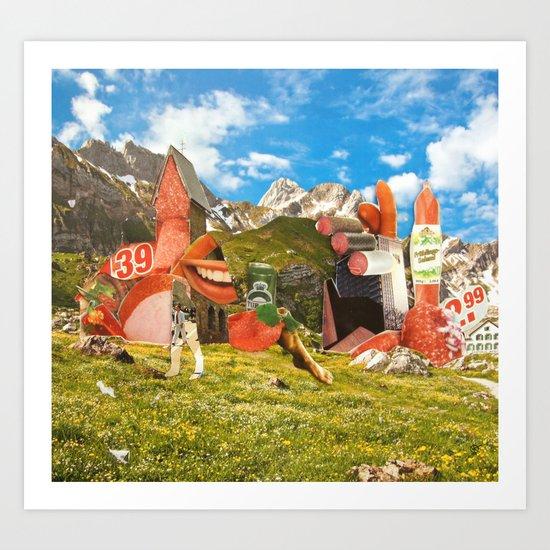 Surreala Alpina 28 Art Print