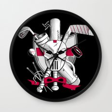 TMNT Casey Jones Wall Clock
