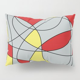 Lines Red Yellow Pillow Sham