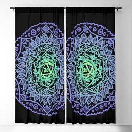 d20 Mandala 3 Blackout Curtain