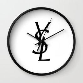 YSL logo Wall Clock