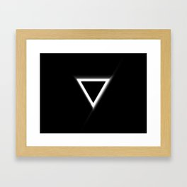 Inverted Triangle Framed Art Print