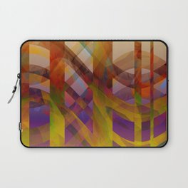 Abstract Design colorful abstract art by Ann Powell Laptop Sleeve