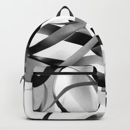 Black paper stripes Backpack
