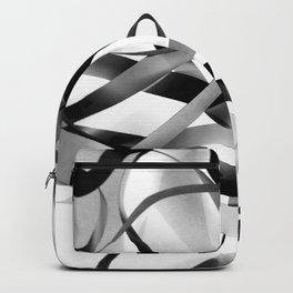 Black paper stripes Backpack