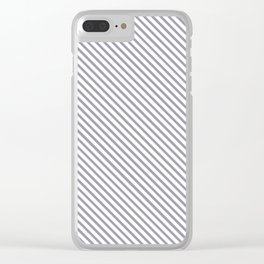 Lilac Gray Stripe Clear iPhone Case