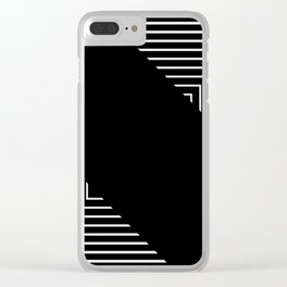 Modern Black and White Geometrical Patterns Clear iPhone Case