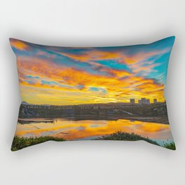 Morning Colors in the Back Bay Rectangular Pillow