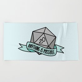 Anything is Possible D20 Beach Towel