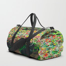 big tree with green yellow and red leaves Duffle Bag