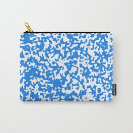 Small Spots - White and Dodger Blue Carry-All Pouch