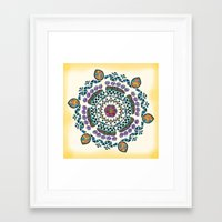 mandala Framed Art Prints featuring Mandala by famenxt