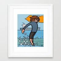 walk the moon Framed Art Prints featuring Moon Walk by JSCulquiArt