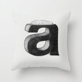 Dissecting Typefaces - a  Throw Pillow
