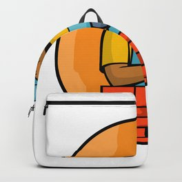 African American Bricklayer Mascot Backpack