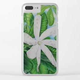 Tiare Tahiti Clear iPhone Case