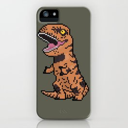 Pixely T-Rex iPhone Case