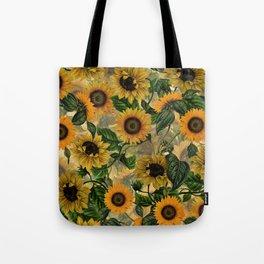 Vintage & Shabby Chic - Sunflowers Flower Garden Tote Bag