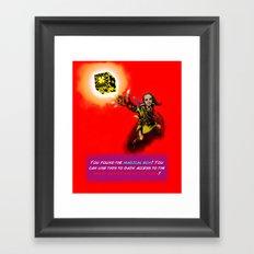 You found the Magical Box! Framed Art Print