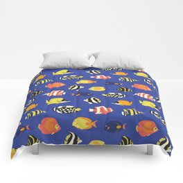 Exotic School Of Reef Fish Comforters