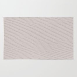 White Summer Sandy Beach Rug