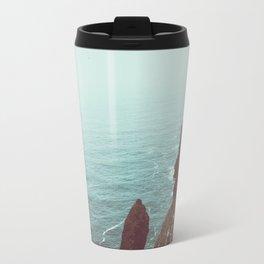Faded Beach Travel Mug
