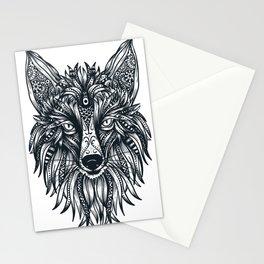 Fox Wolf Tribal Head Stationery Cards
