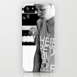 there are too many people here. iPhone Case