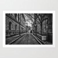 Downtown Alley Art Print