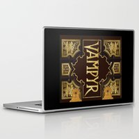 buffy the vampire slayer Laptop & iPad Skins featuring Vampyr Book -- Buffy the Vampire Slayer by BovaArt