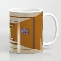 door Mugs featuring Door by Holly Williams