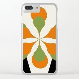 Mid-Century Art 1.4 Clear iPhone Case