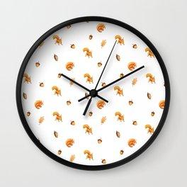 Squirrels&Cones Wall Clock