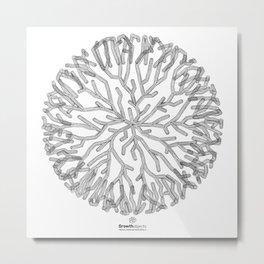 GEOMETRIC NATURE: CORAL w/b Metal Print