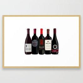 Red Wine Bottles Framed Art Print