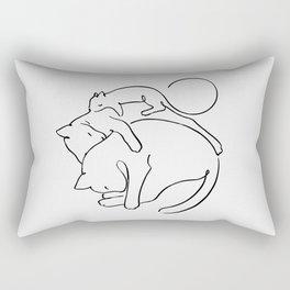 Cats line art 1 Rectangular Pillow