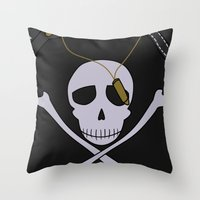 persona 4 Throw Pillows featuring Persona 4 Kanji Tatsumi Uniform by Bunny Frost