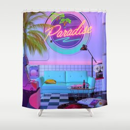 Paradise Wave Shower Curtain