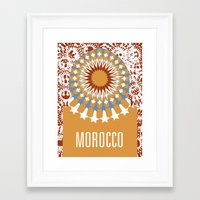 morocco Framed Art Prints featuring Morocco by Corrie Bates