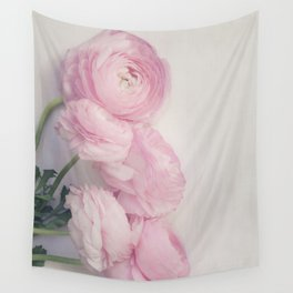 Pink Peonies Wall Tapestry